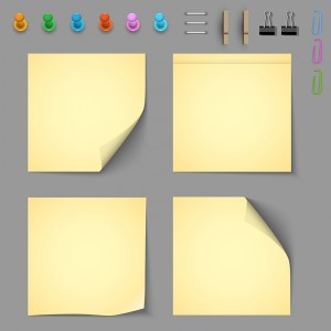 yellow-notice-papers-with-elements-for-attaching-paper-913-2133