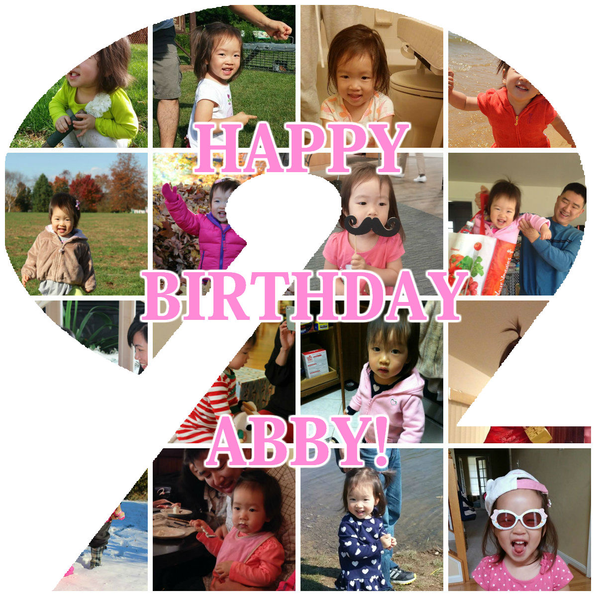 Abby Number 2 Collage Bday