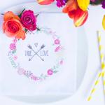 DIY Wedding Flower Napkins