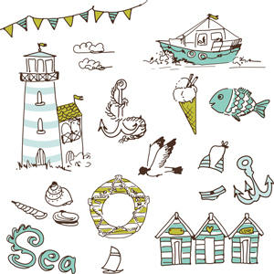 Nautical Themed Vector Images