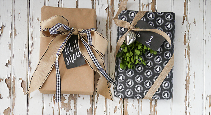 http://www.ellaclaireinspired.com/chalkboard-wrapping-paper-gift-tags/