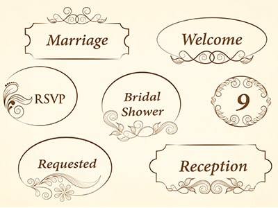 wedding graphics reception