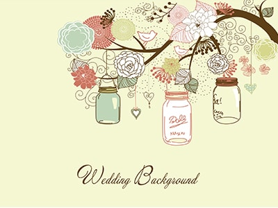 wedding background jars