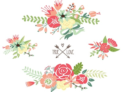 wedding graphics flowers