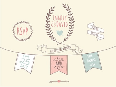 wedding graphics invite