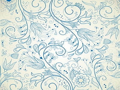 wedding background blue swirls