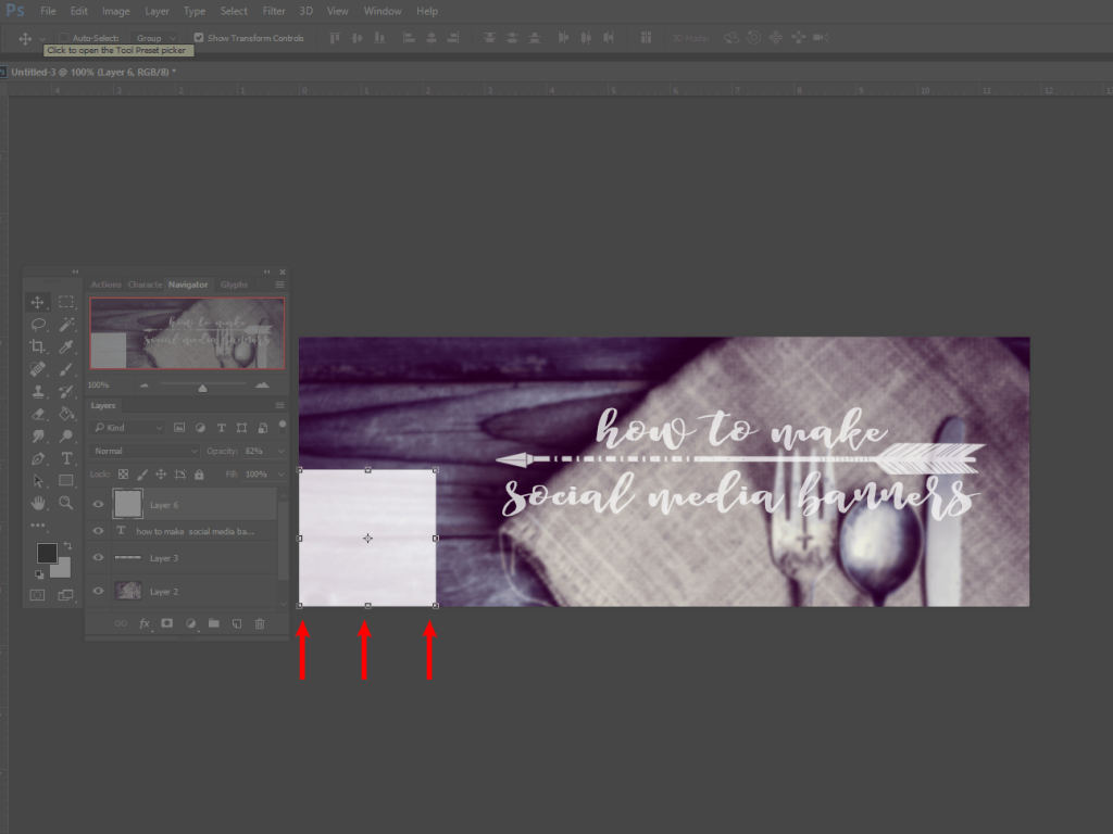 How to Make Social Media Banners in Photoshop