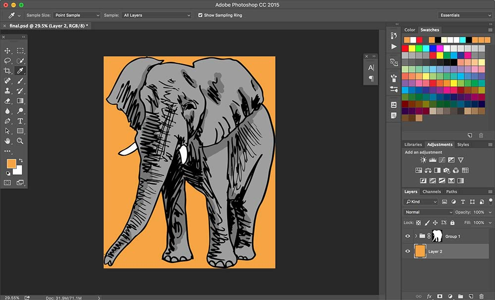 How to Color Illustrations in Photoshop