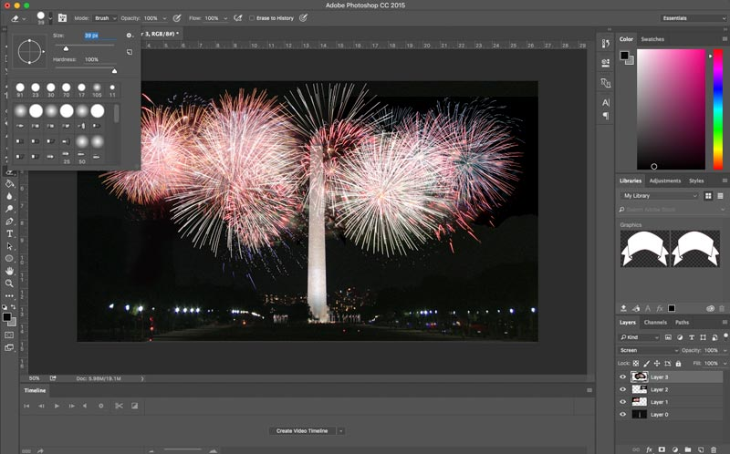 Adobe Photoshop Tutorial Seven Easy Steps for Adding Fireworks Using Photo Composites