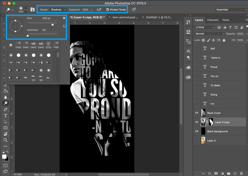 Tutorial How to Create Striking Text Portrait Photoshop