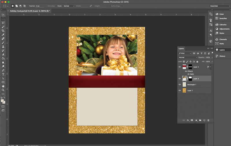 Holiday Card Photoshop Tutorial