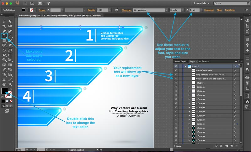 Tutorial Infographics Vector Templates Illustrator