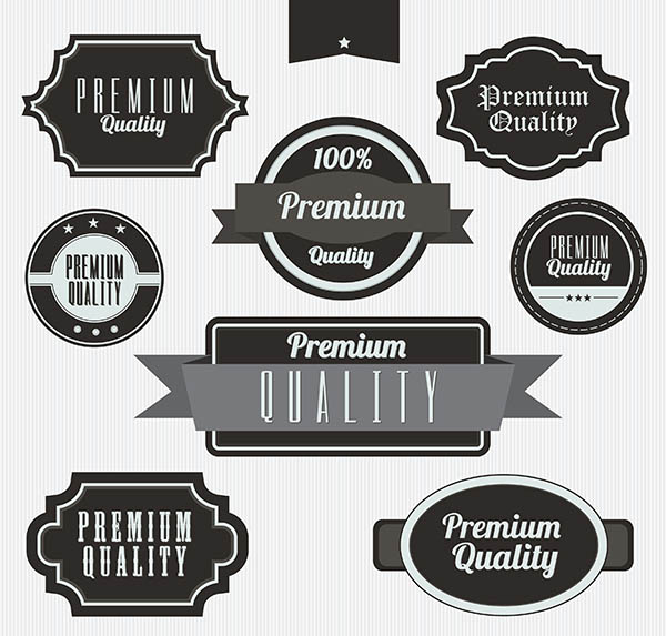 stock vector labels