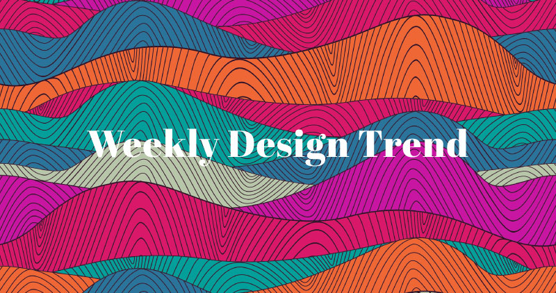 Trending This Week: Colorful Patterns and Negative Space