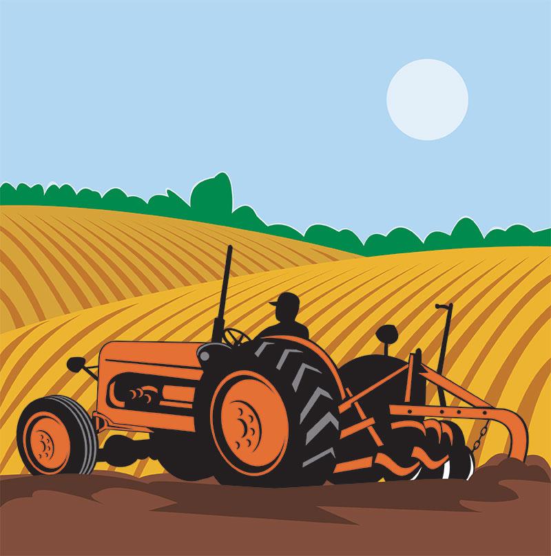 farm vectors - tractor
