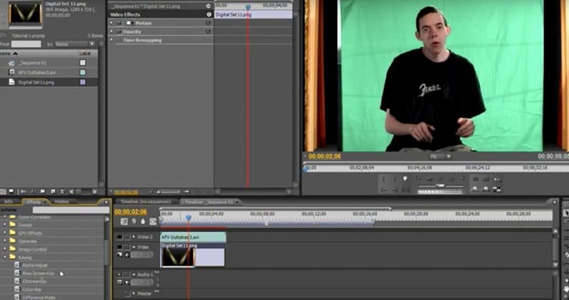 How to Use Adobe Premiere CS4 for Green Screen Editing & Chroma ...