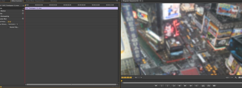 Premiere Pro Blur 2