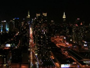 New York City Nighttime Flyby