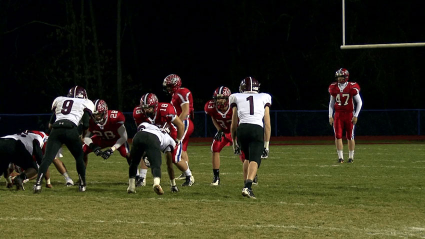 Stock footage of football game