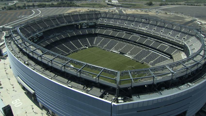 Stock footage of football stadium