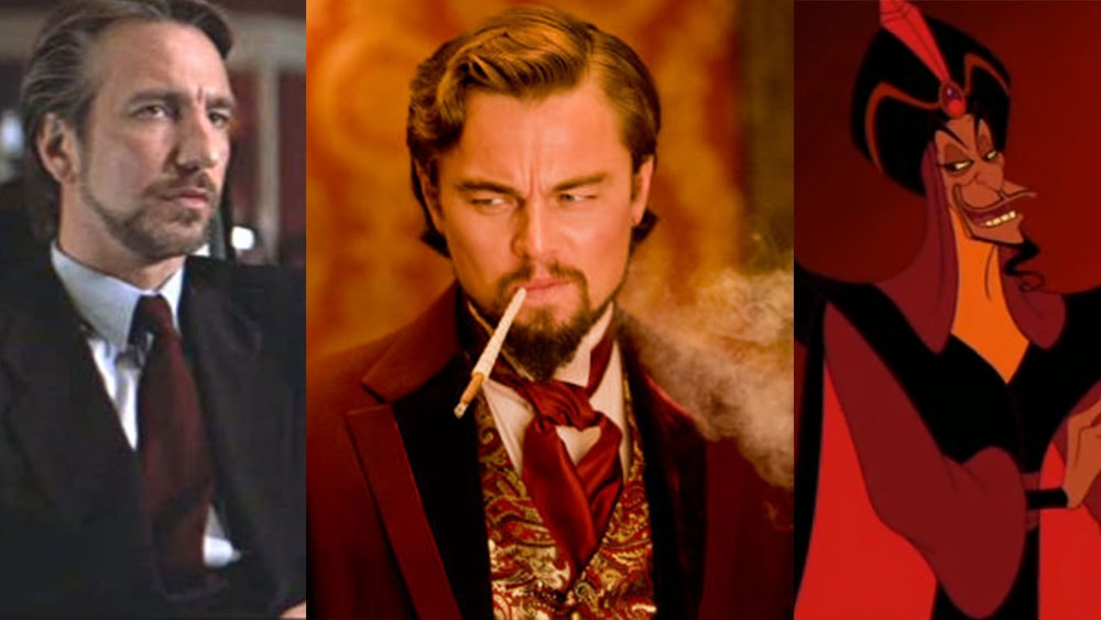 Antagonistic characters in movies with beards