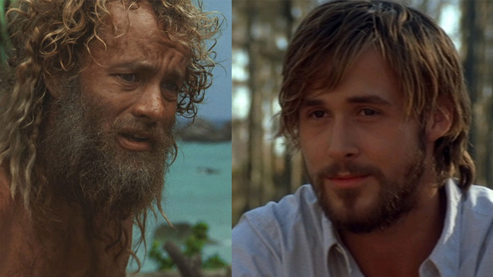 Characters in movies with beards showing the passage of time