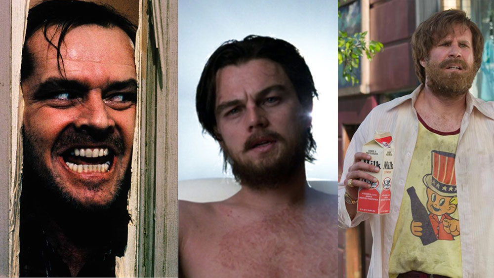 Characters in movies with an unkempt beard