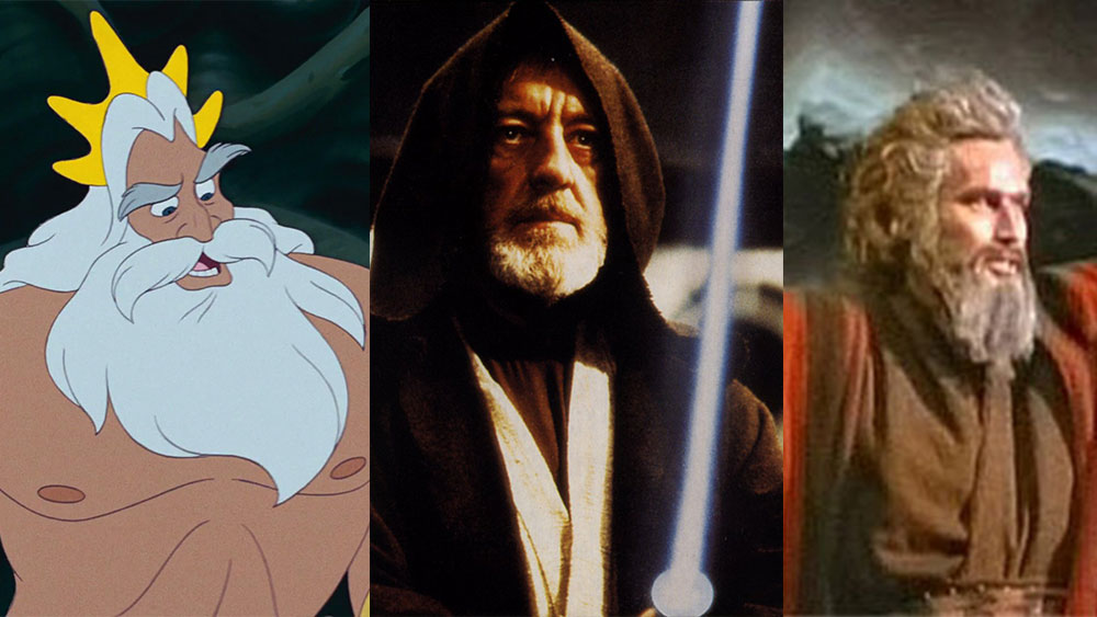 Wise characters in movies with beards