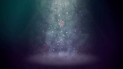 Falling particle motion background