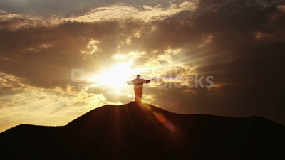 Stock Footage of Christ the Redeemer