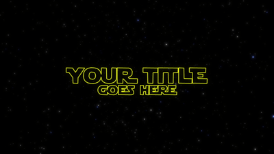 Opening Title Star Wars After Effects Template