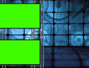 Retro Background Set With Green Screens