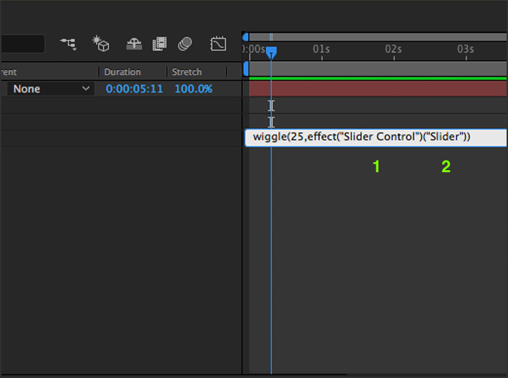 After Effects - Slider Code Control
