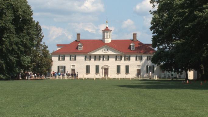 Mount Vernon house Stock Photo