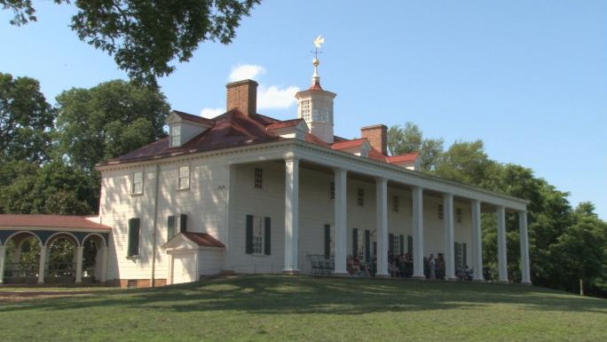 Back of Mount Vernon main house Stock Photo