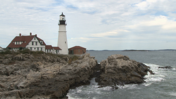 Portland Head Light lighthouse in Maine 4 Stock Photo