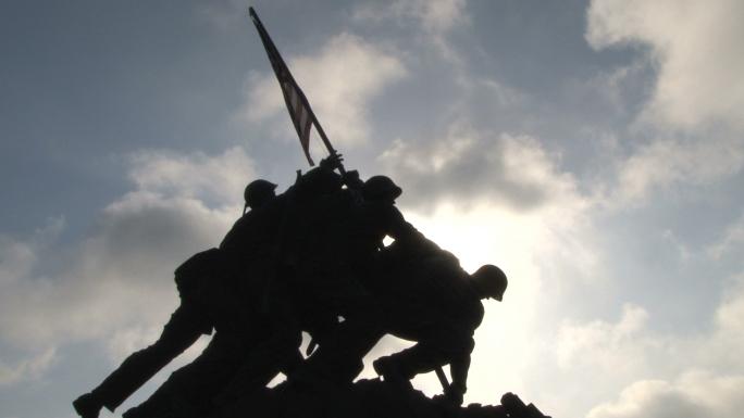Iwo Jima Memorial in Arlington Stock Photo