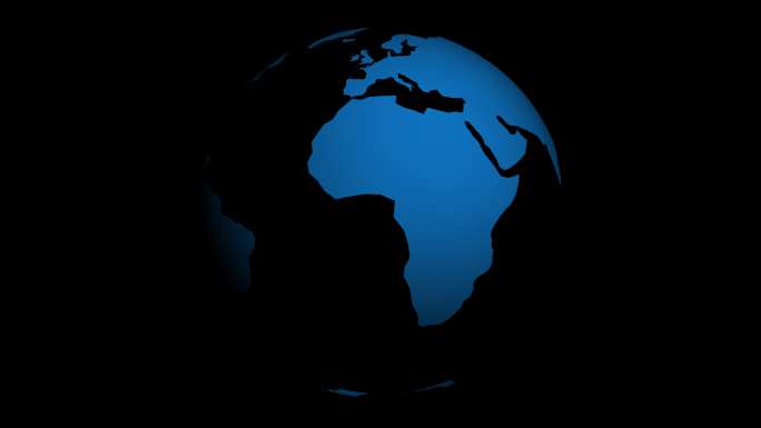 Transparent Alpha Channel Globe 1 Stock Photo