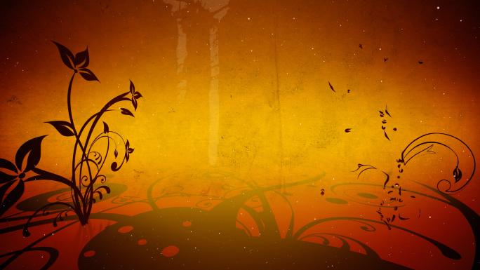Orange and Brown Flourishes Stock Photo