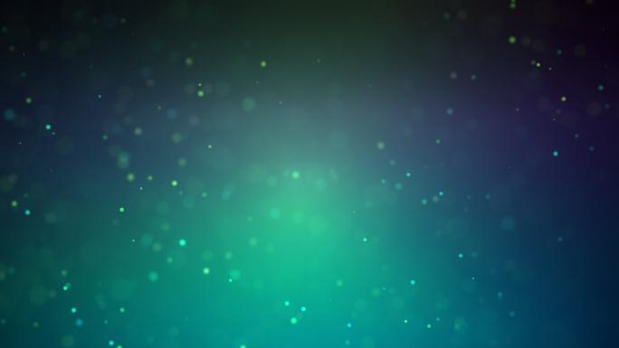 Dust Blue Particles Stock Photo