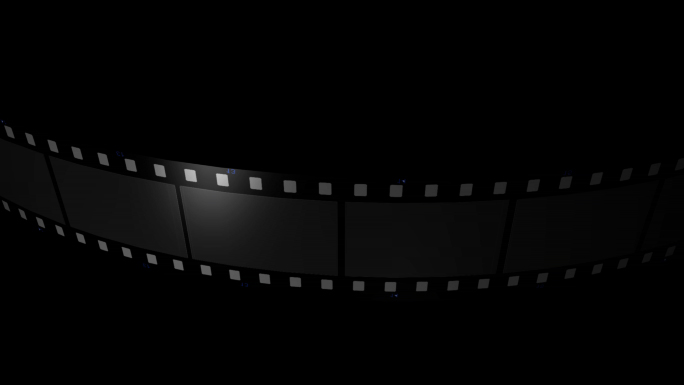 Scrolling Film Strip Transparent Alpha Channel Loop Stock Photo
