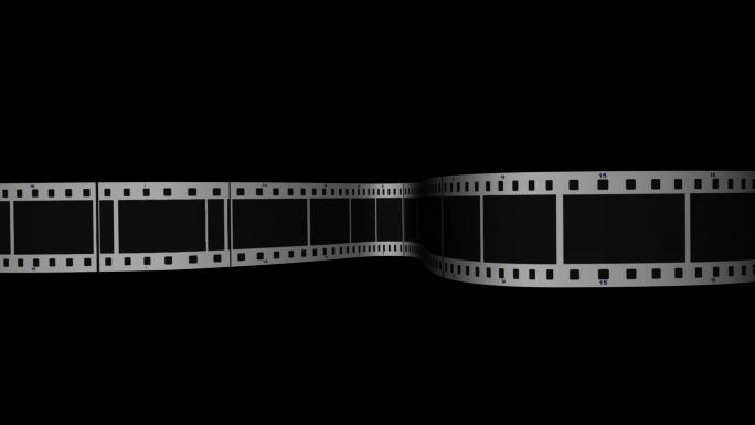 Scrolling Film Strip 2 Transparent Alpha Channel Loop Stock Photo