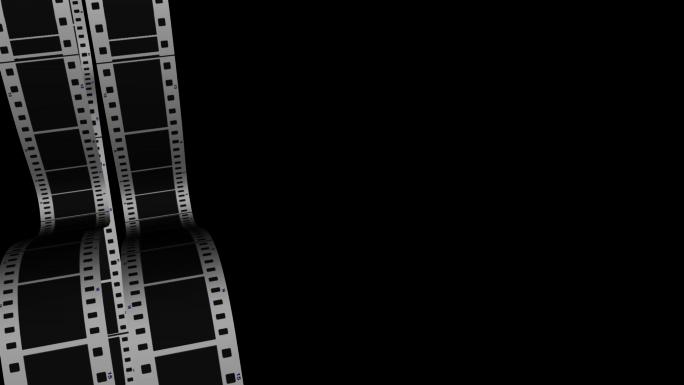 Scrolling Film Strip 3 Transparent Alpha Channel Loop Stock Photo