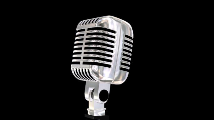 Old School Microphone Stock Photo