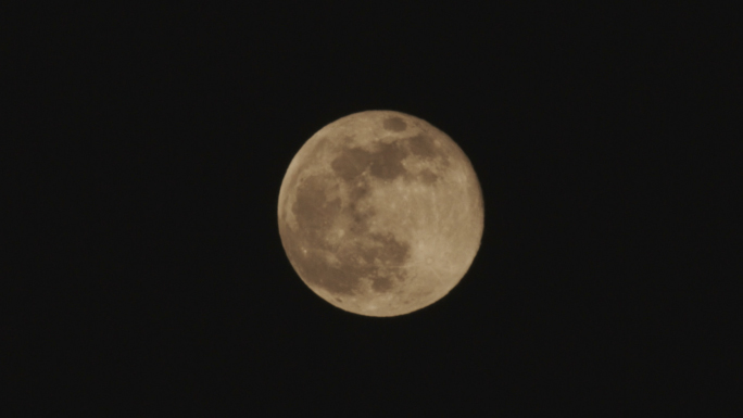 Yellow Full Moon at Night Stock Photo
