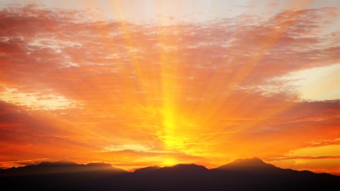 Sunset Hills Stock Photo