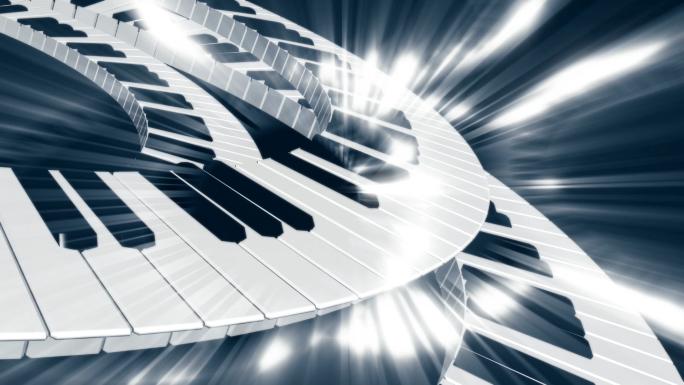 Scrolling & Shining Keyboard Stock Photo