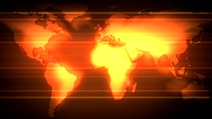 Scrolling Red Shining Flat Globe Stock Photo