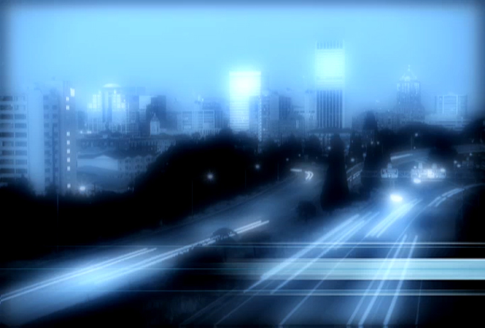 Time-lapse city pulsing with life Stock Photo