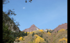 Rocky Mountain Peak and Moon